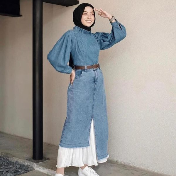 Glery skirt plisket